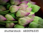 Small photo of Lotus flower Symbol of worship the feeling or expression of reverence and adoration for a deity.