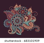 flower pattern bright abstract... | Shutterstock .eps vector #683101909