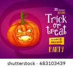 halloween trick or treat... | Shutterstock .eps vector #683103439