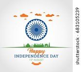 india independence day design... | Shutterstock .eps vector #683105239