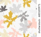 abstract maple leaves seamless... | Shutterstock .eps vector #683105971