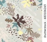 abstract fall seamless pattern... | Shutterstock .eps vector #683106265