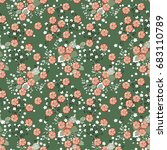 floral pattern. seamless wild... | Shutterstock .eps vector #683110789