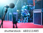 microphone and music instrument ... | Shutterstock . vector #683111485