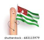 abkhazia waving flag. finger... | Shutterstock .eps vector #683115979