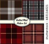 vector knitted plaid tartan... | Shutterstock .eps vector #683116021