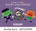 vintage halloween poster design ... | Shutterstock .eps vector #683120509