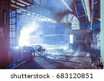 blast furnace smelting liquid... | Shutterstock . vector #683120851