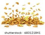 golden euro sign on white... | Shutterstock . vector #683121841