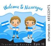 nicaragua   boy and girl with... | Shutterstock .eps vector #683122471