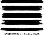 grunge paint stripe . vector... | Shutterstock .eps vector #683124025