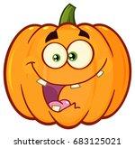 crazy orange pumpkin vegetables ... | Shutterstock .eps vector #683125021