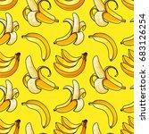banana seamless pattern. exotic ...   Shutterstock .eps vector #683126254
