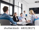 group of business people... | Shutterstock . vector #683128171