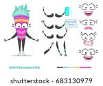 monster character animation and ... | Shutterstock .eps vector #683130979