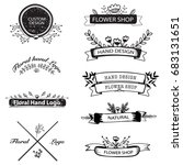 hand drawn logo set with... | Shutterstock .eps vector #683131651