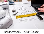mechanical engineering of parts ... | Shutterstock . vector #683135554
