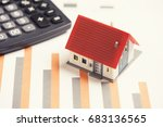 house model and calculator on...   Shutterstock . vector #683136565