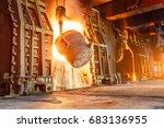 Small photo of Blast furnace smelting liquid steel in steel mills