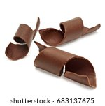chocolate curls isolated on... | Shutterstock . vector #683137675
