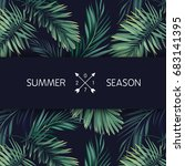 summer tropical vector design... | Shutterstock .eps vector #683141395