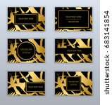 set of white  black and gold... | Shutterstock .eps vector #683141854
