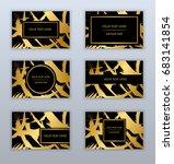 set of white  black and gold... | Shutterstock .eps vector #683141854
