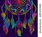 Colorful Dream Catcher With...