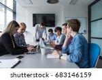 business team meeting in modern ...   Shutterstock . vector #683146159