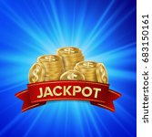 jackpot background vector....