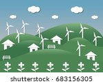illustration of eco and world... | Shutterstock .eps vector #683156305