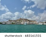 old town and marina of eivissa... | Shutterstock . vector #683161531