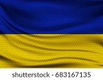 national flag of ukraine on... | Shutterstock .eps vector #683167135
