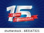 15 years anniversary background ... | Shutterstock .eps vector #683167321