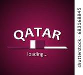 qatar flag loading bar  ... | Shutterstock .eps vector #683168845