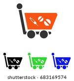 medication shopping cart vector ... | Shutterstock .eps vector #683169574