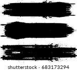 grunge paint stripe . vector... | Shutterstock .eps vector #683173294