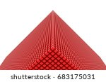 perspective view of red color... | Shutterstock . vector #683175031
