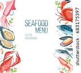 seafood  background fresh fish... | Shutterstock .eps vector #683175397