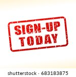 illustration of sign up today... | Shutterstock .eps vector #683183875