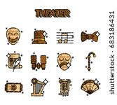 theater flat icons set  drama ... | Shutterstock . vector #683186431