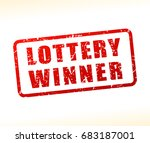 illustration of lottery winner... | Shutterstock .eps vector #683187001