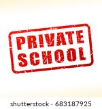 illustration of private school... | Shutterstock .eps vector #683187925