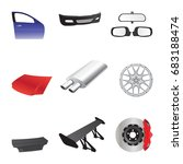 car parts icons.   Shutterstock .eps vector #683188474