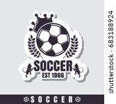 football emblems  sport icons | Shutterstock .eps vector #683188924