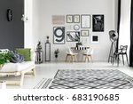 black and white walls in... | Shutterstock . vector #683190685