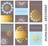 set of creative cards.... | Shutterstock .eps vector #683196865