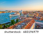 top view of old town vanice at... | Shutterstock . vector #683196979
