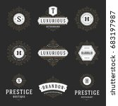 luxury logos templates set ... | Shutterstock .eps vector #683197987