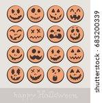 happy halloween teeth  set of... | Shutterstock .eps vector #683200339